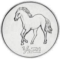 North Korea 1/2 Chong 2002 UNC Horse Horse (KM # 183) - Corea Del Nord