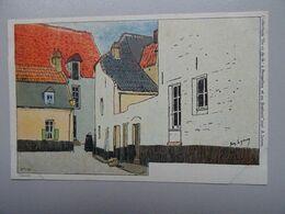 """Carte Postale Amédée Lynen """"De-ci De-là"""" à Bruxelles Et En Brabant N°121 Impasse Du Tabernacle. Louvain. (Leuven) - Lynen, Amédée-Ernest"""