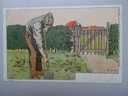 """Carte Postale Amédée Lynen """"De-ci De-là"""" à Bruxelles Et En Brabant N°123 Jardinage. Watermael (Watermaal) - Lynen, Amédée-Ernest"""