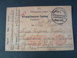 """364 ITALIA Regno -1918- Storia Postale """"Prigionieri Di Guerra"""" Germania USº (descrizione) - Franchise"""