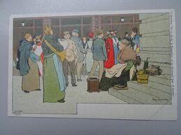 """Carte Postale Amédée Lynen """"De-ci De-là"""" à Bruxelles Et En Brabant N°130 Autour De La Bourse. Bruxelles (Brussel) - Lynen, Amédée-Ernest"""