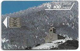 Andorra - STA - Anyos Chapel, 02.1993, SC4, Cn. 44375, 100Units, 20.000ex, Used - Andorra