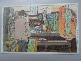 """Carte Postale Amédée Lynen """"De-ci De-là"""" à Bruxelles Et En Brabant N°134 Antiquités Douteuses. Bruxelles (Brussel) - Lynen, Amédée-Ernest"""
