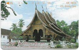 Laos - LTC (Tamura) - Vat Xieng Thong Temple, 1996, 100Units, 78.000ex, Used - Laos