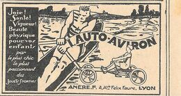 Lauto-Aviron. Etab. Anere, Lyon. Stampa 1930 - Advertising