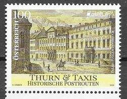 AUSTRIA, 2020, MNH, EUROPA, ANCIENT POSTAL ROUTES, ARCHITECTURE, HORSES, 1v - Europa-CEPT