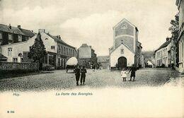 Huy * Rues Place * La Porte Des Avengles * Cpa Dos 1900 * Liège Belgique - Huy