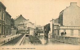 Huy * Vue Prise Du Pont Des Gattes * Cpa Dos 1900 * Liège Belgique - Huy