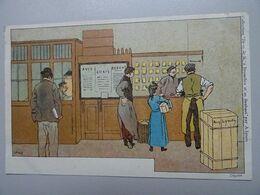 """Carte Postale Amédée Lynen """"De-ci De-là"""" à Bruxelles Et En Brabant N°145 Marchandises Par Express (Bruxelles-Midi) - Lynen, Amédée-Ernest"""
