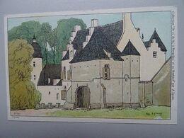 """Carte Postale Amédée Lynen """"De-ci De-là"""" à Bruxelles Et En Brabant N°147 Vieux Chateau. Molenbeek Karreveld. - Lynen, Amédée-Ernest"""