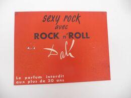 """Carte """" Le Parfum Interdit Aux Plus De 20 Ans SEXY ROCK Avec ROCK N' ROLL   DALI - Vintage (until 1960)"""