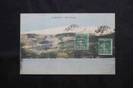 LIBAN - Affranchissement Semeuses Sur Carte Postale De Beyrouth En 1924 - L 68637 - Lettres & Documents