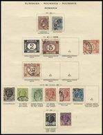 SAMMLUNGEN, LOTS O, *, 1866-1941, Alter Sammlungsteil Auf Seiten, Etwas Unterschiedliche Erhaltung, Mi. Nach Angabe Ca.  - 1948-.... Republiken