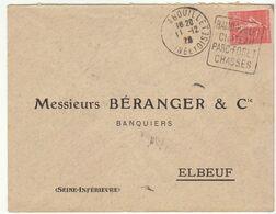 ESC 50c Semeuse O. Daguin Rambouillet Seine Et Oise1928 - Postmark Collection (Covers)