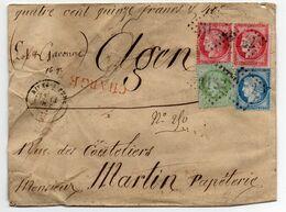 LETTRE POSTEE LE 12 OCTOBRE 1874. LETTRE AVEC CACHETS DE CIRE. LETTRE CHARGEE - 1871-1875 Ceres
