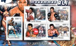 Guinea 2012 MNH - Mohamed Ali (70th Anniversary). Y&T 4227-4231, Mi 5840-5844 - Guinea-Bissau