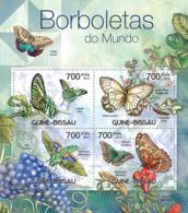 Guinea - Bissau 2012 - Butterflies Of The World. Y&T 4246-4249, Mi 5887-5890 - Guinea-Bissau