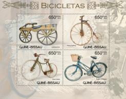 Guinea - Bissau 2012 - Bicycles. Y&T 4530-4533, Mi 6173-6176 - Guinea-Bissau