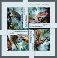 Guinea - Bissau 2012 - Extinct Crocodile. Y&T 4638-4641, Mi 6271-6274 - Guinea-Bissau