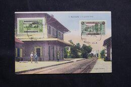 LIBAN - Affranchissement  De Beyrouth Sur Carte Postale ( La Grande Gare )  En 1930 - L 68648 - Lettres & Documents