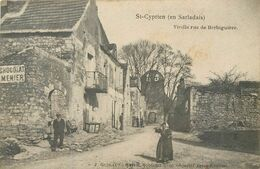 CPA 24 Dordogne St Saint Cyprien En Sarladais Vieille Rue De Berbiguière - Andere Gemeenten
