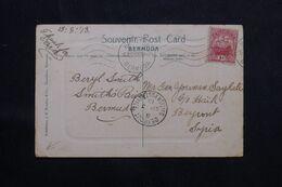 BERMUDES - Affranchissement De Hamilton Sur Carte Postale En 1913 Pour Beyrouth - L 68660 - Bermudas