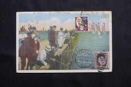 ETATS UNIS- Carte Postale De Chicago En 1920 Pour Beyrouth - L 68663 - Briefe U. Dokumente