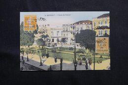 LIBAN - Affranchissement Semeuses Surchargées De Beyrouth Sur Carte Postale - L 68666 - Lettres & Documents