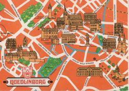 Quedlinburg - Übersichtskarte - 1980 - Quedlinburg