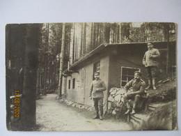 Landsturm Mindelheim I.B.14, Bayern-Hütte Im Wald, Fotokarte Feldpost (22840) - Weltkrieg 1914-18