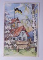 """""""Ostern, Kirche, Fahne, Österreich"""" 1918, G. Kutta ♥  - Easter"""