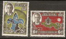 Jamaice  1952  SG 151-2  Scouts  Unmounted Mint - Jamaica (...-1961)