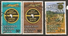 Kenya Uganda Tanganyika  1963   SG  211-3  Safari Rally Various Values    Fine Used - Kenya, Uganda & Tanzania