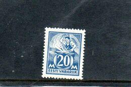 ESTONIE 1922-5 ** - Estonie