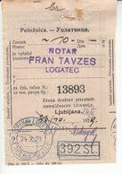 5907 --- SLOVENIJA  POTRDILO  GORENJI LOGATEC - Slowenien