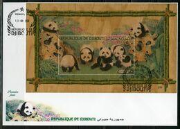 Djibouti 2020, Animals, Panda, Wood BF In FDC - Guinea (1958-...)