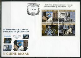 Guinea Bissau 2020, Against Covid, Monument, 4val In BF In FDC - Médecine