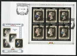 Guinea Bissau 2020, Against Covid, Penny Black, 6val In BF In FDC - Médecine