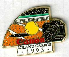 Pin's Arthus Bertrand Tennis Roland Garros Canon 1993 - Tennis