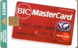 Colombia - CO-TE-001, Telepsa, BIC Master Card (1st Edition), Advertising, 30.000ex, 5.000 $, Used - Colombia