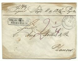 Preussen ZKS RÜGENWALDE Auf Wert-Brief Um 1855 Nach Zanow - Preussen