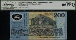 1998 SRI LANKA CENTRAL BANK COMMEMORATIVE 200 RUPEES LCG 66 - Sri Lanka