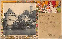 Suisse Luzern Art Nouveau Postcard - Sonstige