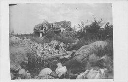 Carte Postale Photo Militaire Allemand AUCHY LEZ LA BASSEE (Pas De Calais) Vue Sur Village En Ruine-Krieg-Guerre 14/18 - Fotografie