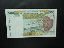 SÉNÉGAL * : ÉTAT DE L'AFRIQUE DE L'OUEST : 500 FRANCS   (20)02    P 710Km     NEUF - West African States