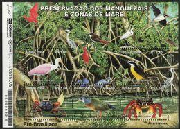 2004 Brazil Preservation Of Mangroves And Coastal Habitats Minisheet (** / MNH / UMM) - Oiseaux