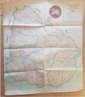 1950 URUGUAY MAPA GRANDE, BIG MAP, GRANDE CARTE, HORACIO URETA MARTINEZ - Geographical Maps