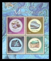 Uzbekistan 2019 Mih. 1358/61 (Bl.96) Minerals MNH ** - Uzbekistan