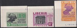 Liberia 1950 UPU Sc 330-31, C67 Mint Never Hinged Imperf - Liberia