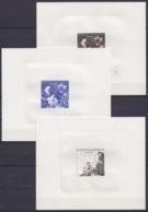 Congo - Série De 5 épreuves Du N°712A Noël 1969 (L'adoration Des Mages - Rubens) Dont 3 Signées Par Graveur De Vos - Mint/hinged